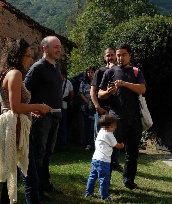 Bianyal 2014 - Kenneth Russo explicant la seva obra(Sant Pere Despuig)