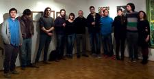 """Artistes i comissari de l'exposició """"Res a veure"""""""
