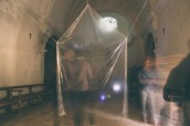 """""""Més de 3.000 partícules de llum"""" obra de Manel Bayo (foto: Marina Sáenz de Pablo)"""