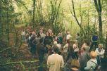 Bianyal 2016 - Jordi Zapata explicant el bosc de la vall del Farró (foto: Marina Sáenz de Pablo)