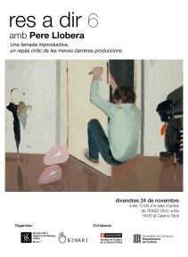 Xerrada Pere Llobera (cartell promocional)