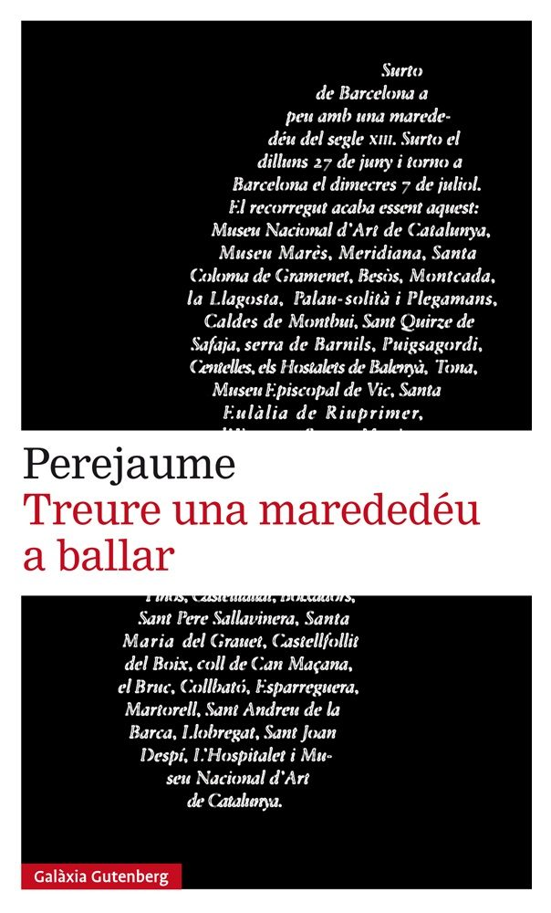 """Portada del llibre """"Treure una marededéu a ballar"""", Barcelona: Galaxia Gutemberg, 2018."""