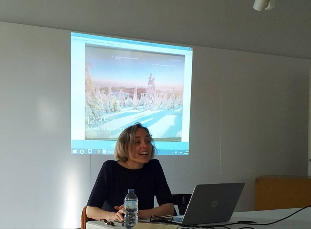 """Presentació del llibre """"L'ull i la navalla"""" d'Íngrid Guardiola (foto Rafel Griera)"""