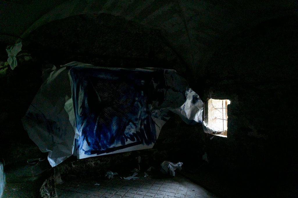 """Pintura en descomposició"""" Xevi Masmitjà (Foto: Luís Delgado)"""
